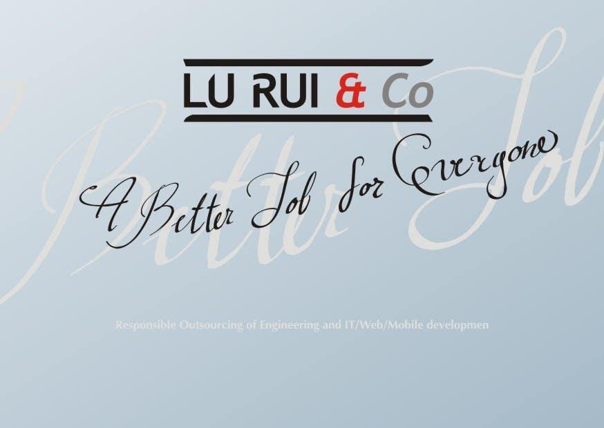 Inscrição nº                                         15                                      do Concurso para                                         Logo Design for Lu Rui & Co: A Better Job for Everyone