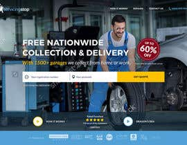 #143 for Landing page for car servicing company - Web design by Rybnipet
