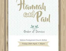 #9 for Order of Service - Wedding Design by wpurple