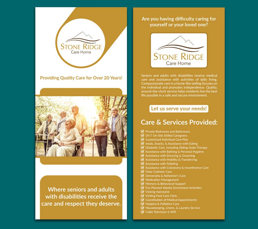 Entry 34 By Bivash7 For Design A Flyer For Stone Ridge Care
