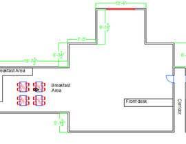 nº 12 pour Create a Motel Hallway in AutoCad par mayankk104