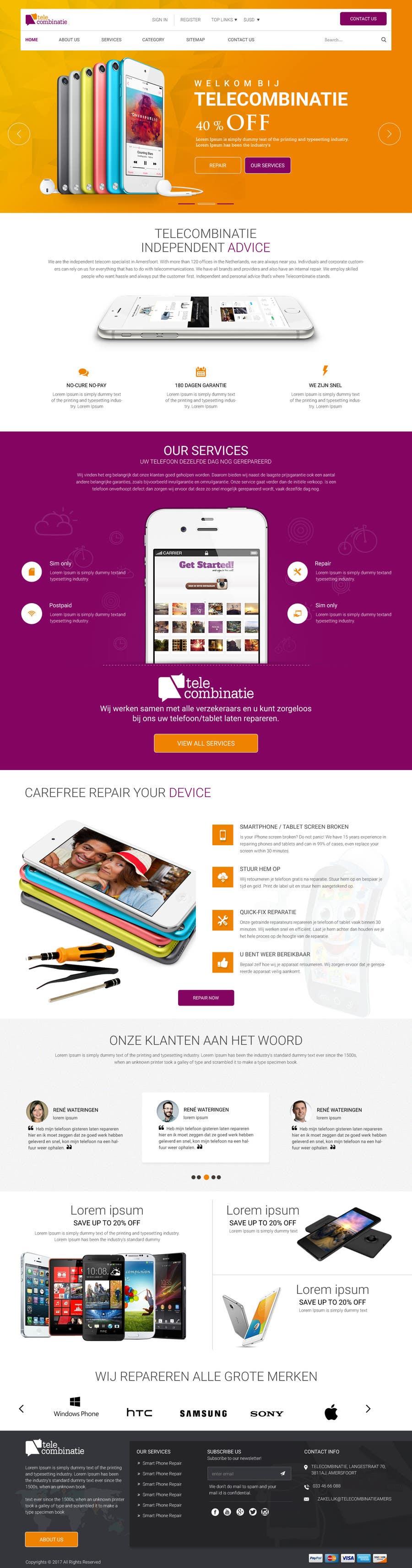 Proposition n°5 du concours Design a Website Mockup, mobile phone shop, repair and more