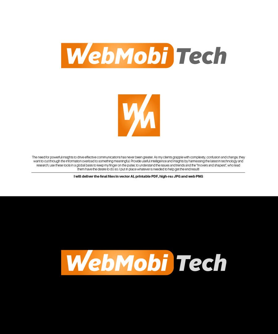 Proposition n°3 du concours Design a Logo for the company WebMobiTech