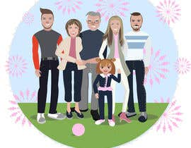 nº 23 pour Turn this family into a CARTOON! par Artistvic