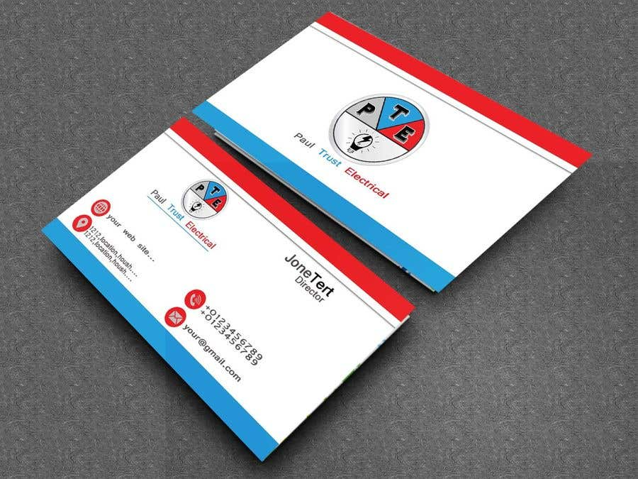 Entry #55 by whid1 for Design some Business Cards For an Electrical ...