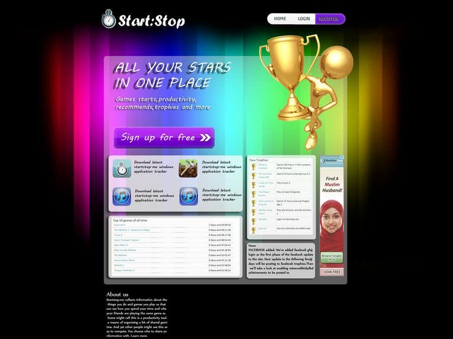 Bài tham dự cuộc thi #                                        13                                      cho                                         Website Design for startstop.me