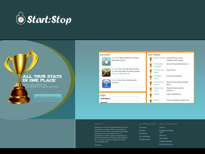 Participación en el concurso Nro.                                        31                                      para                                         Website Design for startstop.me