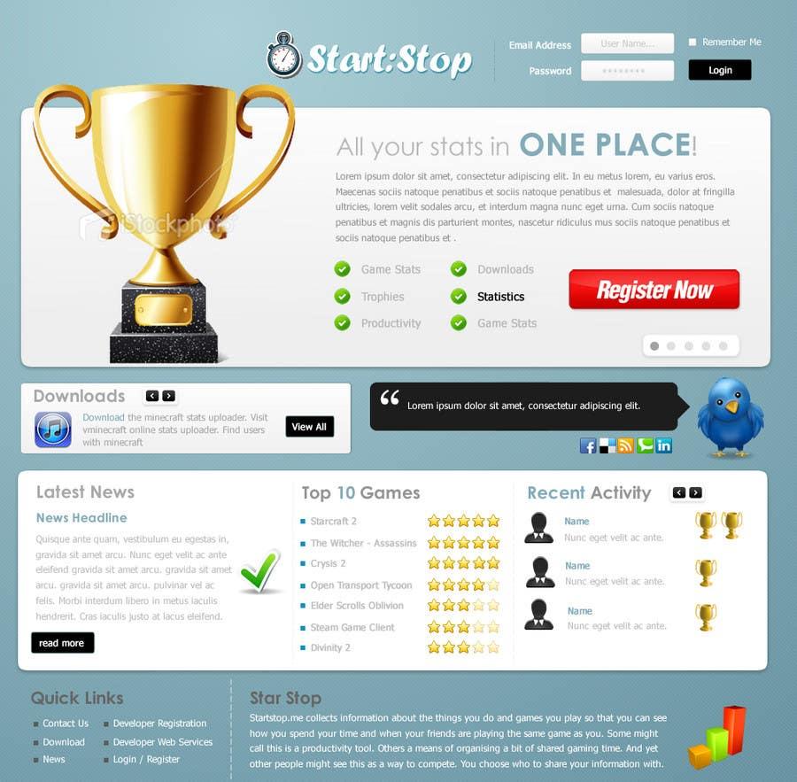 Bài tham dự cuộc thi #                                        9                                      cho                                         Website Design for startstop.me