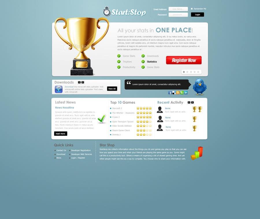 Wettbewerbs Eintrag #20 für Website Design for startstop.me