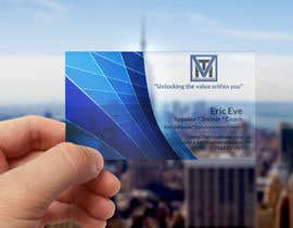#105 , Design ONE-SIDED Business Cards for Clear Plastic 来自 desinersana