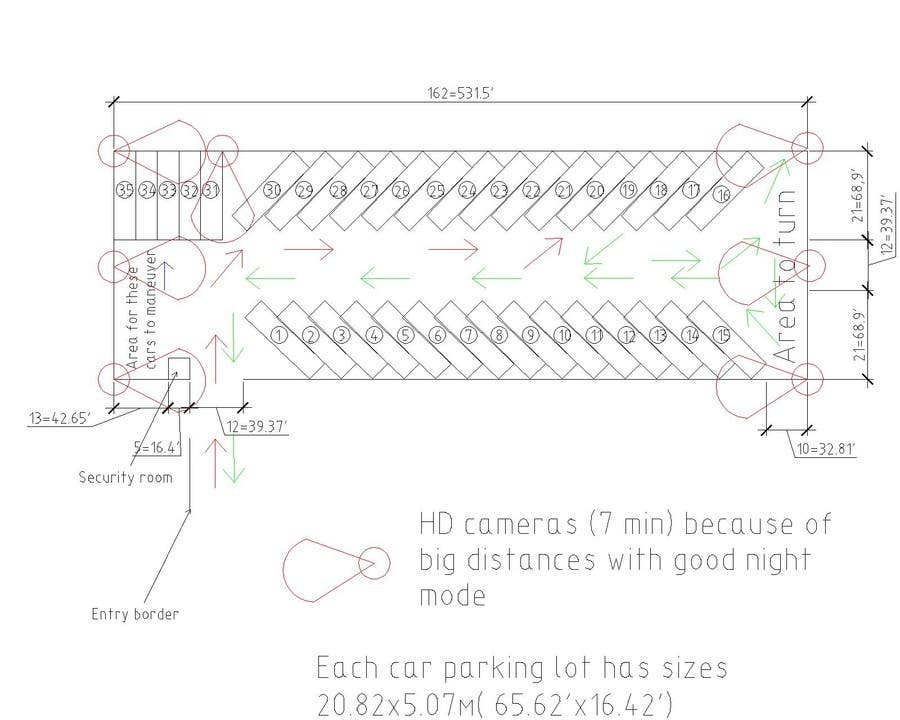 Entry #6 by emperor10e for Design a tractor trailer parking lot ...
