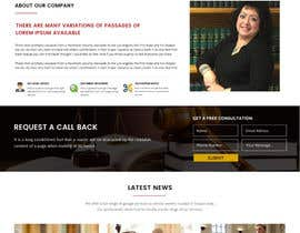 nº 23 pour Design a Website Mock up for attorney par gurutech54