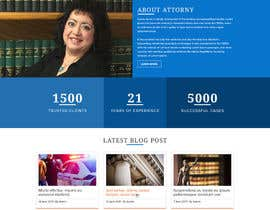 nº 21 pour Design a Website Mock up for attorney par dsquarestudio