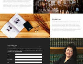 nº 6 pour Design a Website Mock up for attorney par fauzifau