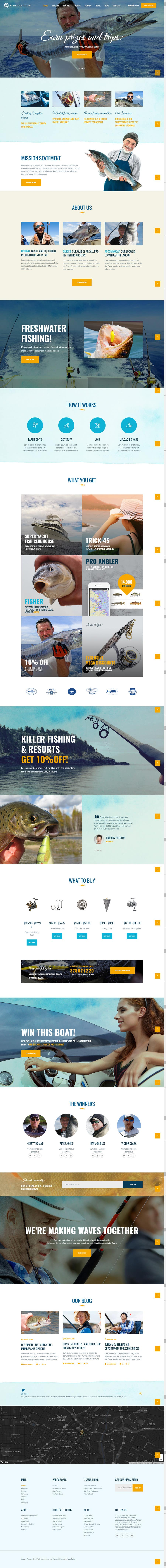Contest Entry #15 for Design a Website Template with a Fishing Theme
