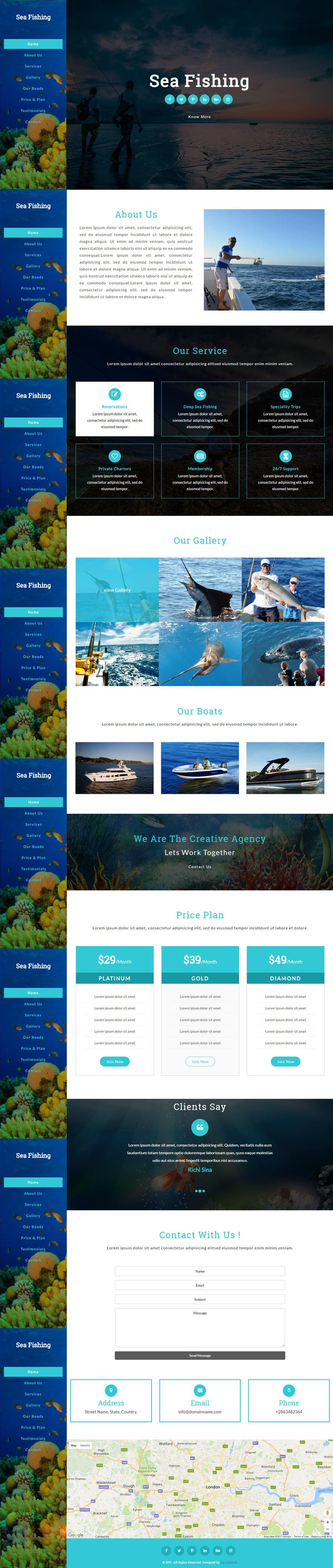 Contest Entry #17 for Design a Website Template with a Fishing Theme