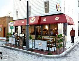 Nro 47 kilpailuun CREATIVE  DESIGN  FOR  PIZZA  CAFE  APPEARANCE käyttäjältä faisolfuady