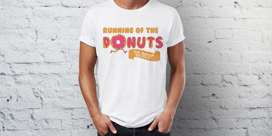 Proposition n°2 du concours Design a T-shirt for the 5th Annual Running of the Donuts