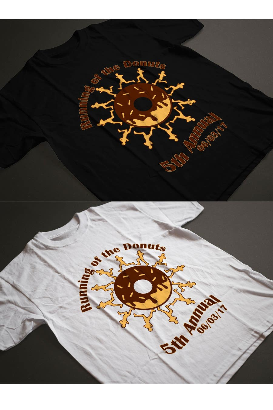 Proposition n°12 du concours Design a T-shirt for the 5th Annual Running of the Donuts