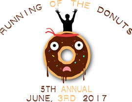 nº 3 pour Design a T-shirt for the 5th Annual Running of the Donuts par AnaTaxa