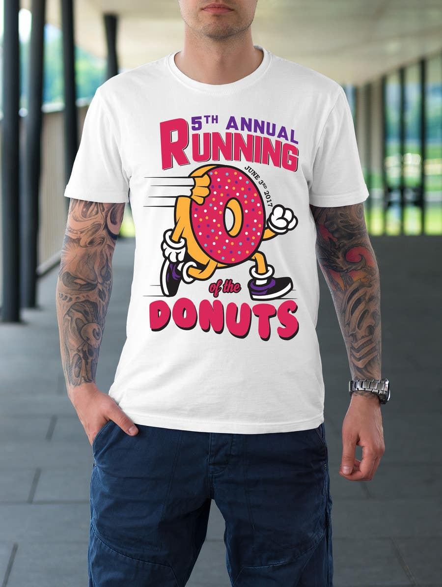 Proposition n°34 du concours Design a T-shirt for the 5th Annual Running of the Donuts