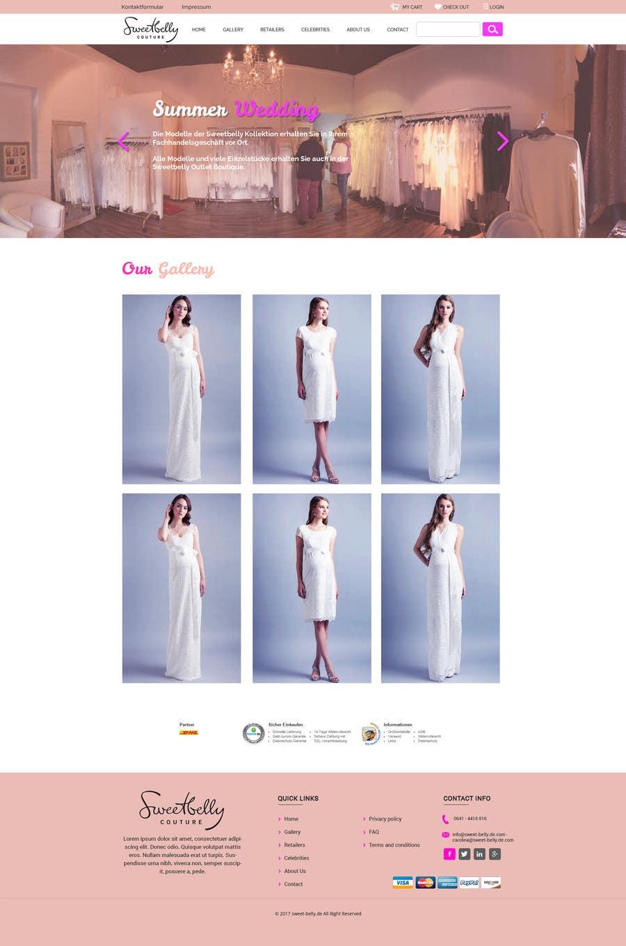Proposition n°2 du concours Create temporary Website (Fashion), urgent