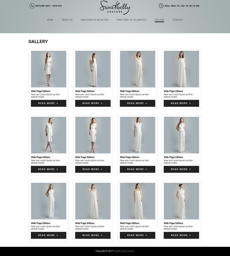 Proposition n°5 du concours Create temporary Website (Fashion), urgent