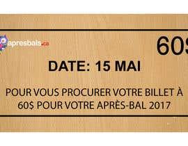 nº 17 pour Design a Facebook image / Ticket sale par cutecriminal