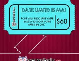 nº 16 pour Design a Facebook image / Ticket sale par Jokey05