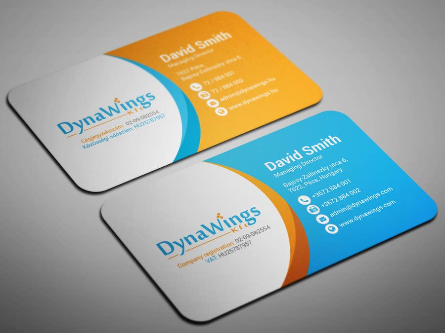 Proposition n°18 du concours Design Business Card for DynaWings Kft