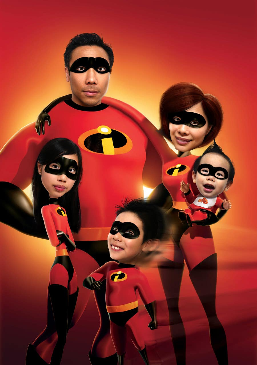 Proposition n°35 du concours Photoshop a family picture for me  - The Incredibles