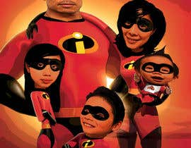nº 7 pour Photoshop a family picture for me  - The Incredibles par tameregiziano