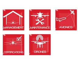 #9 for Aircraft Services Icons and Building Sign Image by athakur24