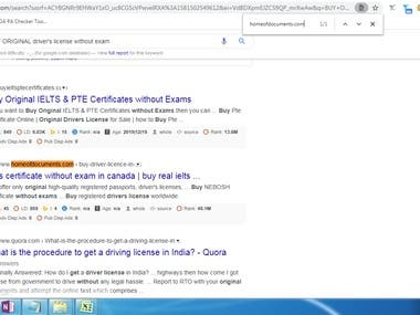 1st Page Ranking in USA  Keyword:- BUY ORIGINAL driver's license without exam URL:- homeofdocuments.com