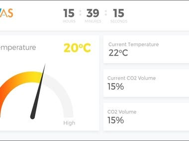 Touch screen compatible web application developed for a CO2 Incubator which is used to provide perfect conditions for growth of microbiological cultures.