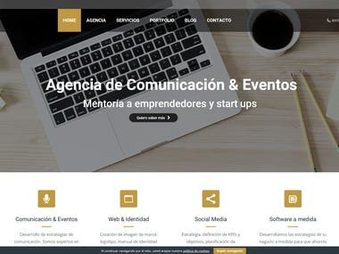 WordPress for the company Sofware Outsourcing Castellana.  http://almacomunicacion.es/  WordPress PHP Web design Logo design