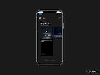 As the World moving to Dark theme UI. So I make this minimalist dark theme UI for a music player APP along with multi interactions.  Why Dark theme? - The rays emitted from the mobile screen are a lesser effect on the eyes. - The consumption of battery is also less.