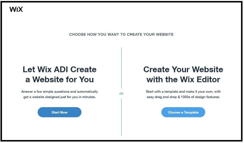 wix adi or wix editor page