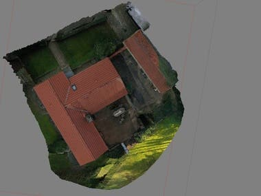3D model building with photos taken by a drone. Dense cloud creation, geometry editing etc.