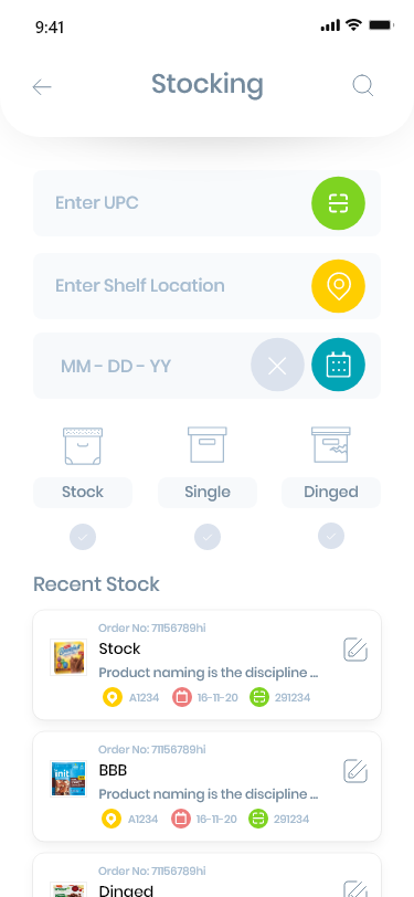 An app for the workers in warehouse which has shelf Management , Stocking and Picking are the main modules . Barcode reader integration implemented for stoker to stock items , shelf manager to manage items on the shelf in warehouse and picker to pick the items from shelves and pack them in proper boxes with their weights mentioned.