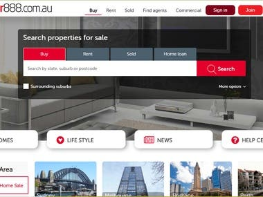 Real estate portal for Australia.