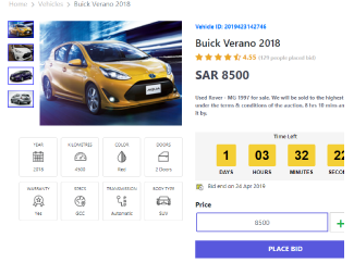 Saudi Auction is Buy & Selling Point. There are two Mechanism By Bidding or Buy Fixed price. Customer can Bid on a product if he has at least 4%  of the Actual Product price. All transactions and customer accounts maintained. Admin can Approve or Reject fake transactions.there are much more functionality in the system that can't be described in a word.