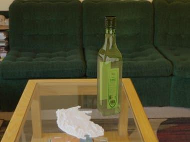 this is blender 3d vine bottle modeling rendering work