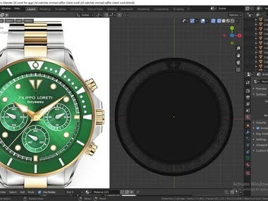 Hi This is my Blender 3d Branded Watch Modeling Rendering Work for one of my client.