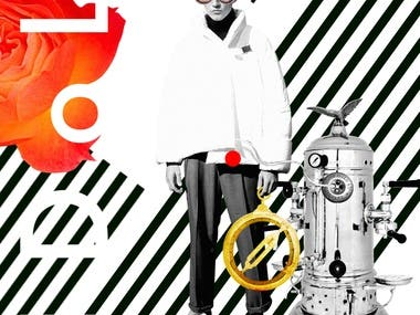 Serie of motion fashion collages for IDol. (men's fashion brand) collection  https://the-dots.com/projects/idol-men-s-fashion-brand-collection-9-371924