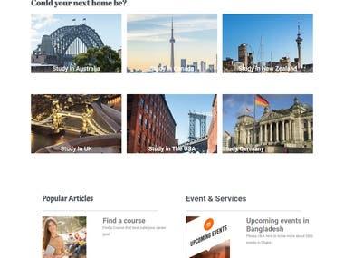 Student Consultancy Firms - Corporate Website.Development.