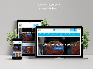 FarisStore.com Website design.