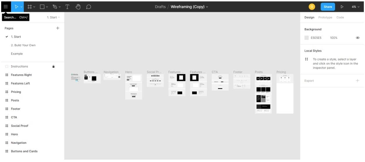 figma templates screen