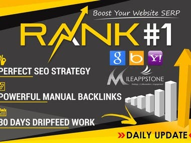 Hey there, Welcome to the most hunted method to Rank Your Website on Google, One Month SEO Backlinks Manually from one of the most Trusted Sellers With A Lot Of Satisfied Clients on FREELANCER website. What I will do for you? I will boost your Google ranking and SERP and rank your website higher on the search engine. This latest SEO package is designed to improve your website ranking on Google and is working for any type of niches and business locations. How I do this? My team will MANUALLY write unique topics articles and submit them along with your website link to different high authority and trusted sites on a daily basis in 30 days drip-feed. I will update the report on a daily basis and you will know exactly what my team is doing each day. Service Features:  100% Manual Work (30 Days DripFeed) Naturally Mix (High PA DA TF CF DR) Unique Domains Backlinks Made According to Latest Google Update 2019 Natural Mix of DoFollow & NoFollow Links 100% customer satisfaction 24/7 Support