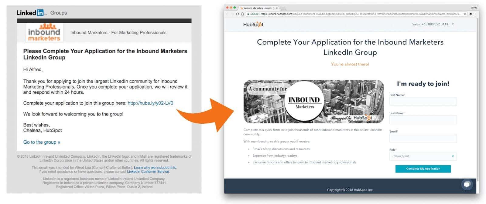 Linkedin group application form